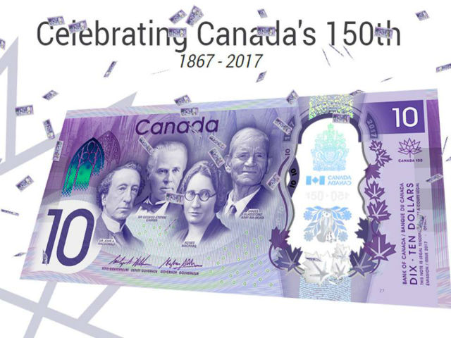New $10 bank note enters circulation celebrating Canada 150