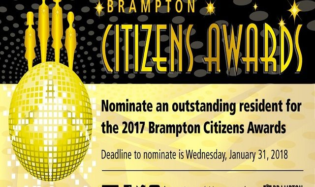 nominations for the 2017 brampton citizens awards close january 31