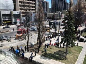 Several Injured as a Van runs through pedestrians in Toronto