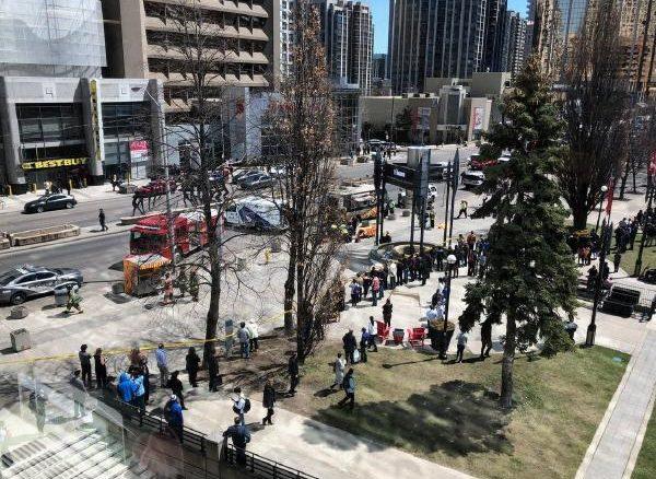 Several Injured as a Van runs through pedestrians in Toronto