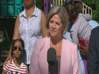 Andrea Horwath stands by Gurratan Singh who held anti-cop sign