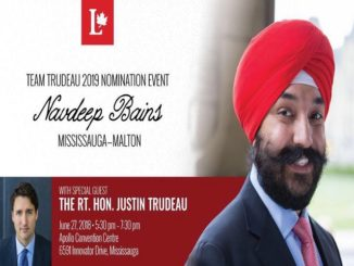Navdeep Bains will be celebrating his nomination as first Team Trudeau 2019