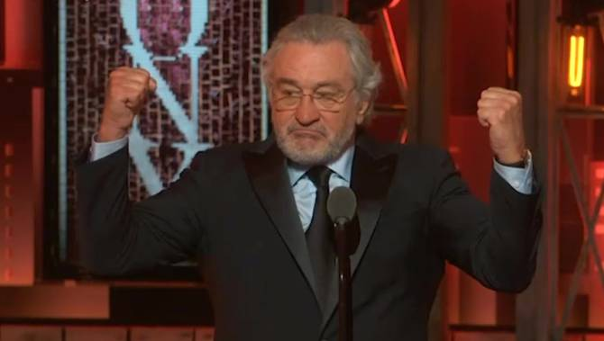 De Niro continued his criticism of Donald Trump in Toronto on Monday