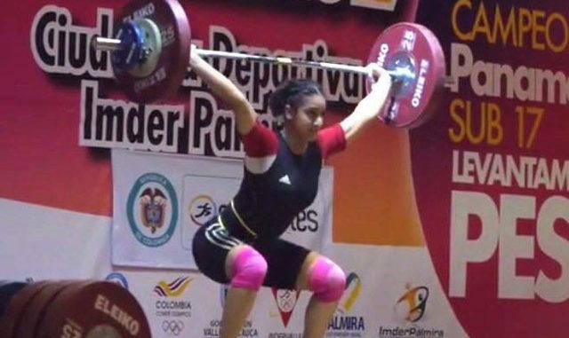Jeenat Billen of Lions Weightlifting club