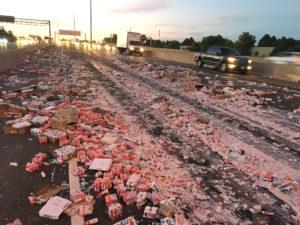 Highway 401 Yogurt Mess: Brampton Man faces careless driving charges