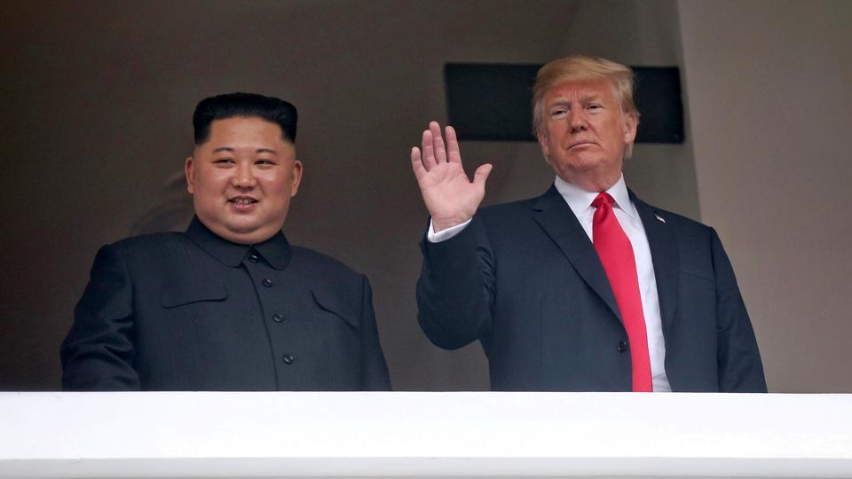 Trump depicts benefits of peace in video played for Kim at summit