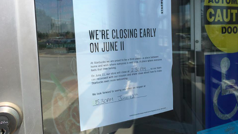 The major coffee chain 'Starbucks' will close early in Brampton on Monday