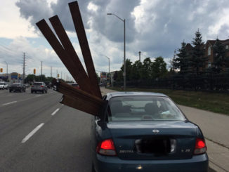 Peel police fine driver who packed car with protruding wood beams