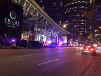 Police presence gathers outside Trump Tower in Vancouver, then disperses