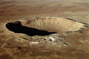 A previous asteroid impact caused this crater in Arizona