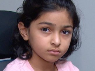 Amber Athwal, 6, was at Wednesday's sentencing for the dentist who treated her two years ago.