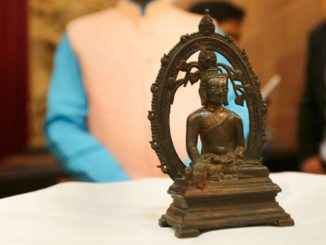 London Police returns stolen 12th century Buddha statue to India on I-Day