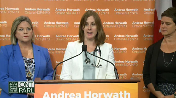 Horwath, health care workers ask PC government to stop repeal of sex-ed curriculum