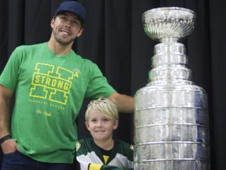 Visit by Stephenson, Stanley Cup stirs emotion in Humboldt