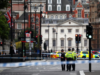 Car crashes into barriers outside UK Parliament as terror strikes London; 3 injured