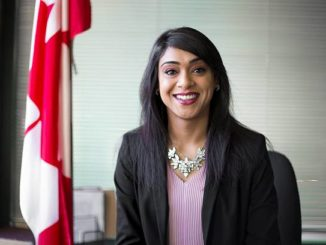 Bardish Chagger talks about the Smile Cookie Campaign in Calgary