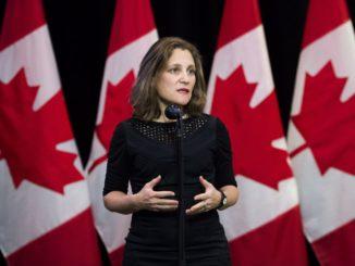 Freeland to return to Washington this week to continue NAFTA talks