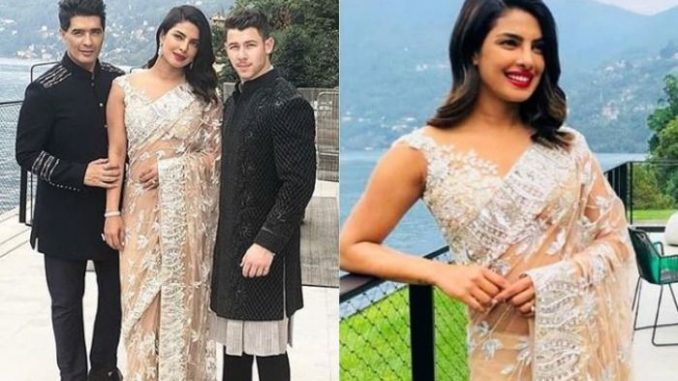 5df7f3842d Nick and Priyanka Don Traditional Indian Ensembles in Italy - PTC ...