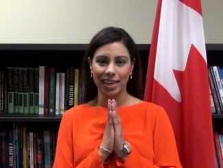 MP Ruby Sahota catches up with her Ontario Caucus colleagues