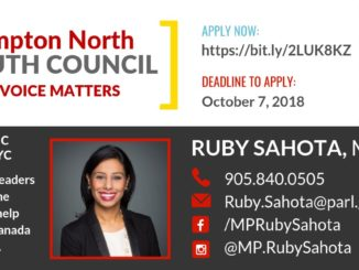 Brampton North Youth Council Application Date Extended: Ruby Sahota