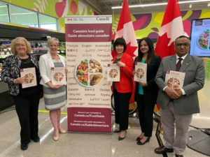 Minister of Health and MP Sonia Sidhu unveils Canada's Food Guide Snapshot in 26 languages
