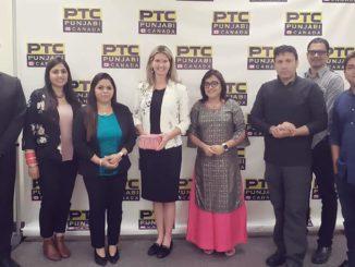Ontario' Associate Minister of Children and Women issues Jill Dunlop visits#PTCPunjabiCanadaoffice,