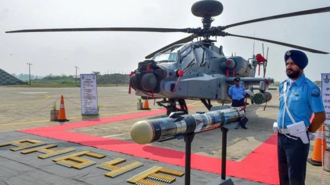 In a boost to its firepower, IAF inducts eight Apache attack helicopters