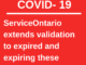 ServiceOntario extends validation to expired and expiring these products