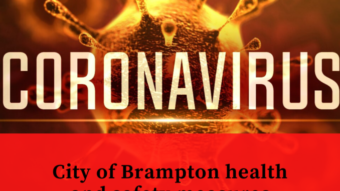 City of Brampton health and safety measures against COVID-19