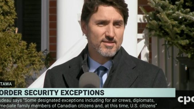 Canada banning entry to non-citizens and residents