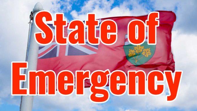 Ontario Extends Emergency Declaration