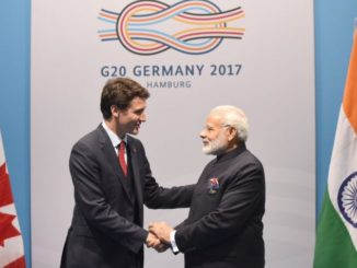 Prime Minister Justin Trudeau speaks with Prime Minister of India Narendra Modi