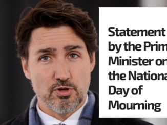 Statement by the Prime Minister on the National Day of Mourning