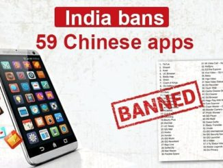 Indian government has banned 59 Chinese applications