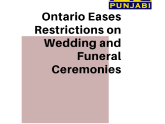 Ontario Eases Restrictions on Wedding and Funeral Ceremonies