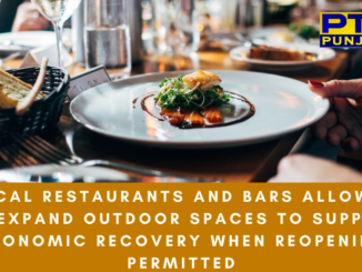 Local restaurants and bars allowed to expand outdoor spaces to support economic recovery when reopening permitted