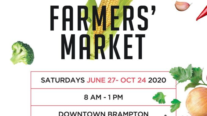 Brampton Farmers' Market will open in downtown Brampton with safety measures starting June 27