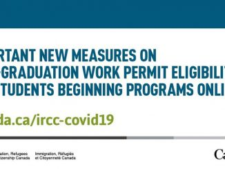 Important new measures on post-graduation work permit eligibility for students beginning programs online