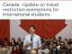 Update on travel restriction exemptions for international students