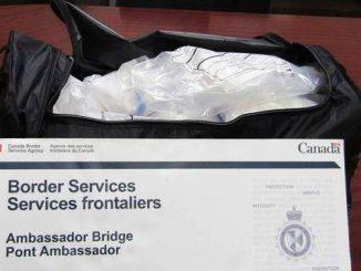 21 kilograms of suspected methamphetamine at Ambassador Bridge