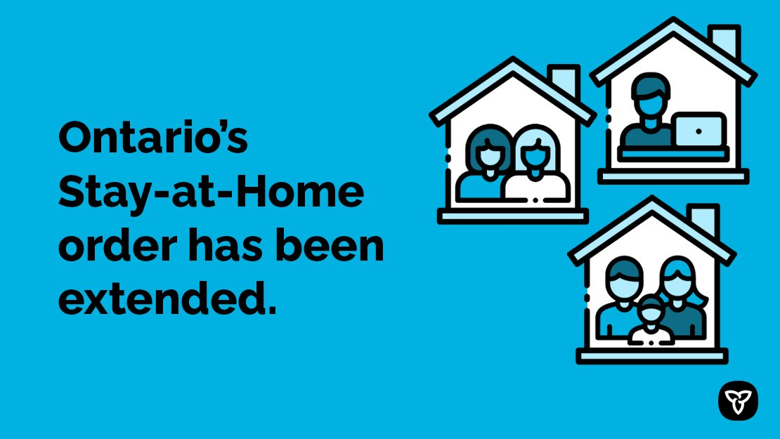 Ontario extends stay-at-home order to June 2