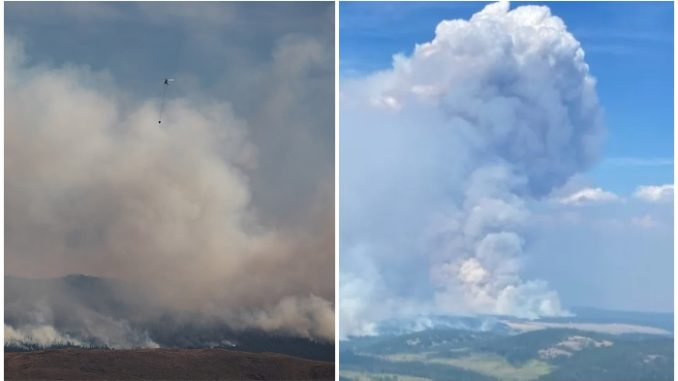 wildfire in Ashcroft